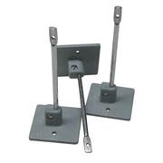 ECOBIRDS - Pilastrino inox lunghezza 95 mm KIT con base di ancoraggio in nylon