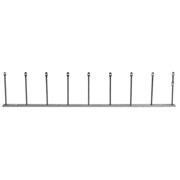 ECOBIRDS - Kit multipilastrino con base alluminio e 9 pilastrini inox