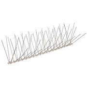 ECOBIRDS - Dissuasore d'appoggio in policarbonato con spilli inox (120 punte/mt) per gabbiani