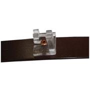 ECOBIRDS - Piattina in alluminio verniciato con staffe policarbonato per supporto barre da 3 mm