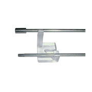 ECOBIRDS - KIT linea elettrificata composto da barra filettata, staffe supporto, boccola