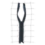 ECOBIRDS - Cerniera ispezione rete nero lunghezza 2 mt